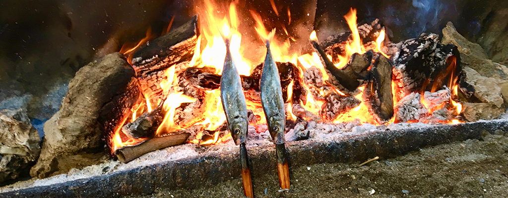Fish on barbecue at Guayaba Beach