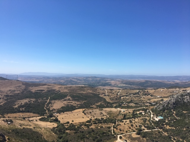 View from the top of Casares