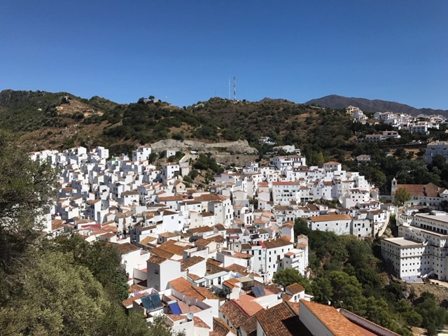 Casares nestled in the mountains
